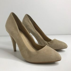 Aldo EU Sz 38 Beige Leather Heel Pumps